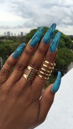 Looking for amazing nail art design ideas? If so, acrylic, gel or shellac nails could be your target. Check out the samples here! Marble Acrylic Nails, Summer Acrylic Nails, Best Acrylic Nails, Acrylic Gel, Aycrlic Nails, Swag Nails, Marble Nail Designs, Nail Art Designs, Water Nails