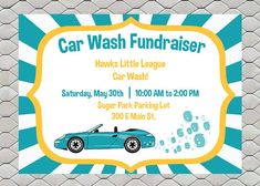 fundraiser flyer car wash sports team school church handout printable