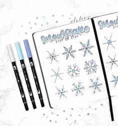 TUTORIAL✨ Finally the much requested part 1 of my step by step snowflake tutorial!🥰 Part 2 is coming soon. Bullet Journal Weekly Spread, Bullet Journal Goals Page, December Bullet Journal, Bullet Journal Books, Bullet Journal Ideas Pages, Bullet Journal Inspiration, Bullet Journal Christmas, Christmas Doodles, Planer