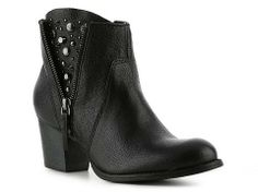 Nine West bootie - love the hint of studs under the zipper!!