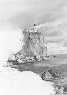 Landscape Drawings in Pencil | The following is my step-by-step description of my rendering of ...