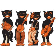 Scat Cat Band Halloween Cutouts from TheHolidayBarn.com