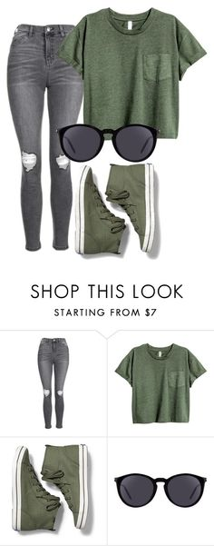 """""""Untitled #642"""" by lock-and-key21 ❤ liked on Polyvore featuring Topshop, Keds and Yves Saint Laurent"""