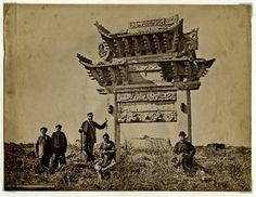 c1870 PHOTO CHINA ANCIENT CHINESE TOMB - FRANCIS FRITH STUDIO