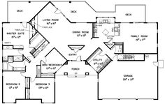 homivo contemporary ranch style homes floor plans | Contemporary House Plan First Floor - 085D-0350 | House Plans and More