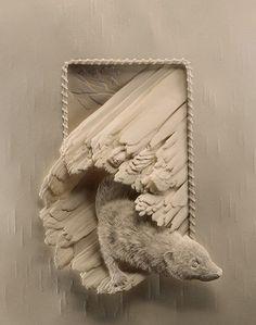 Amazing paper sculptures.