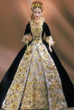allthedolls:  2001Fabergé Imperial Grace porcelain Barbie doll.