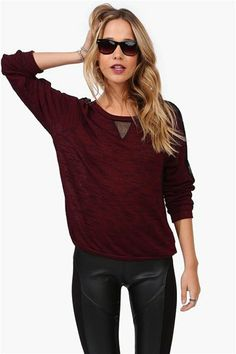 Sienna Sweatshirt in Wine on Wanelo