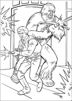 han solo and chewbacca coloring page from a new hope category select from 20946 printable