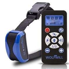 WOLFWILL 800 Yards Dog Training Collar - Waterproof & Rechargeable E-Collar Beep Automation Adjustable Shock & Vibration w/ Remote {Upgraded Version} -- Be sure to check out this awesome product.