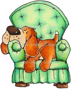 [Relax to the Max - Dogs - Animals - Rubber Stamps - Shop] bet you were sure glad to get home to your chair Animal Sketches, Animal Drawings, Cute Drawings, Inkscape Tutorials, Arte Tribal, Dog Cards, Cartoon Dog, Animal Cards, Whimsical Art