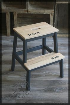 Idea about Ikea Furniture Makeover: Bekväm foot stool. Cheap and easy! [ DIY-ikea-bekvam-scaletta-sgabello-dipingere-modifica ] - July 27 2019 at Ikea Diy, Ikea Makeover, Furniture Hacks, Ikea Bekvam, Ikea, Diy Déco, Furniture Makeover, Ikea Furniture Makeover, Ikea Inspiration