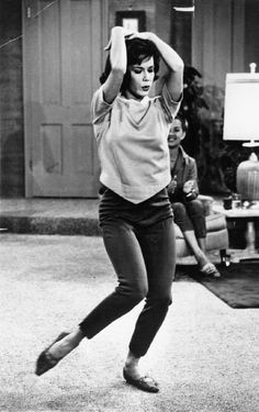 Sixties | Mary Tyler Moore in the The Dick Van Dyke Show episode, To Tell or Not to Tell,  1961. Television censors actually frowned on Mary's tight slacks, they told her she was too being too sexy.