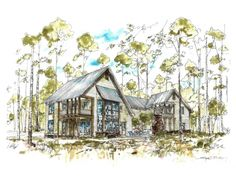 Great perspective of the 3,500 sq. ft. custom residence coming soon to Churchill Oaks
