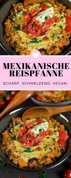 Für die Mexikanische Reispfanne Vegan musst du nur eine Pfanne und einen kleinen Topf herauskramen (und spülen!). Perfekt also für kleine Studentenküchen, wenn trotz Winzküche etwas ganz fantastisches auf dem Esstisch stehen soll. #vegan #veganfood #veganrecipes #vegetarisch #kochen #Rezept #Anleitung #Veganesuppe #kochen #healthy #veganrezept #veganmexikanisch #veganepfanne
