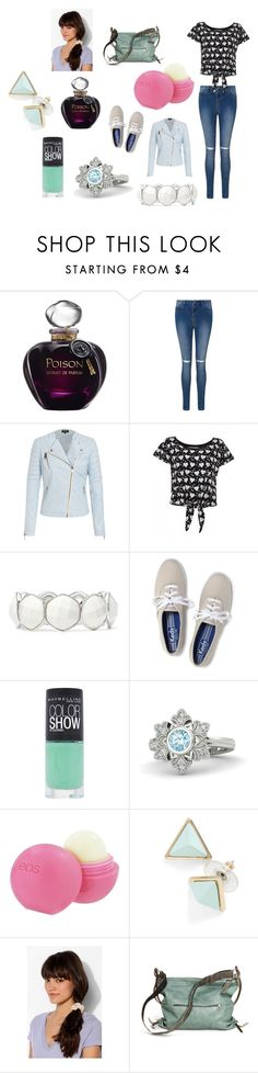 """Going to Libby's"" by hermionejgranger19 ❤ liked on Polyvore featuring Christian Dior, Jagger, Liz Claiborne, Keds, Maybelline, Disney, Eos and Ina Kent"