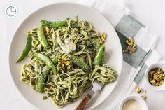 Get weekly meal kit delivery to your home. Goodfood delivers farm-fresh ingredients and original recipes right to your doorstep. Pesto, Linguine, Original Recipe, Japchae, Spaghetti, Dinner Recipes, Good Food, Things To Come, Meals
