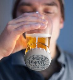 Hot Sale Creative Hopped Up Inverted Silicone Lid Transparent Glass Beer Cup Beer Brewing, Home Brewing, Homemade Beer, Tapas, Beer Mugs, How To Make Beer, Beer Lovers, Craft Beer, Beer Crafts