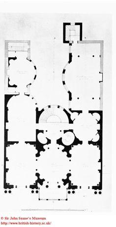 Floor plan: White's Club, St. James's Street british-history.ac.uk