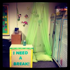 I believe that classrooms need to be a place for all students to feel comfortable. I know that any environment where there is stress can make students uncomfortable. I want my students to know that if they need a place to calm down, relax, and take a few minutes to themselves they have that opportunity in my room. An area like this would also be a fun place for students to read a book.