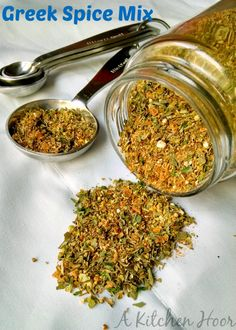Not sure what goes in a Greek Spice Mix? Neither was I, but I know what I wanted in there! So, this is my version of a Greek Spice Mix. Homemade Spice Blends, Homemade Spices, Homemade Seasonings, Spice Mixes, Lebanese Recipes, Greek Recipes, Rub Recipes, Cooking Recipes, Smoker Recipes