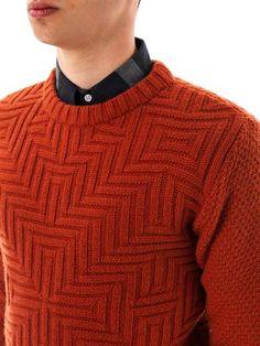 Knitspiration: amazing Oliver Spencer men's sweater