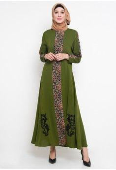 Wanita Baju Muslim Dress Muslim Gamis Hikmat Fashion