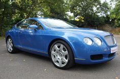 2006-56 Bentley Continental GT Mulliner. Finished in stunning Neptune Blue with all the usual Mulliner features. Magnolia interior stitched in French Navy, with embossed Flying B's and secondary hide in Nautic, with Birds Eye Maple veneers. Only 65,000 miles with Full Service History. Immaculate throughout £36.950 Full Details:  http://hanwells.net/bentley-select/bentley-continental/2006-56-bentley-continental-gt-mulliner-in-neptune-blue-36-950
