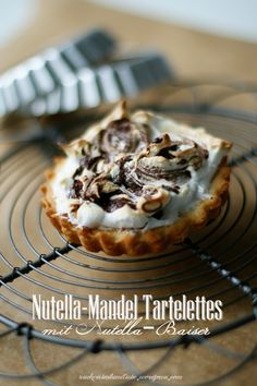Nutella Almond Tartelettes with Nutella Meringue Topping
