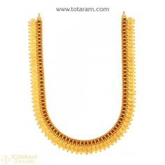 Gold Traditional Necklaces for Women -Indian Gold Jewelry -Buy Online Indian Gold Necklace Designs, Indian Gold Jewellery Design, Gold Temple Jewellery, Gold Jewelry, Jewelry Necklaces, Jewelry Design, Pearl Jewelry, Bridal Jewelry, Deco