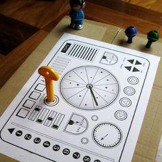 free spaceship dashboard printable // vegie smugglers blog.