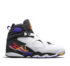 new products 49f3e e415e Authentic 305381-142 Air Jordan 8 Retro White Infrared 23-Black-Bright