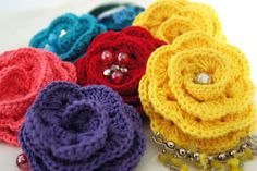 Crochet rose. Easy pattern. In English..