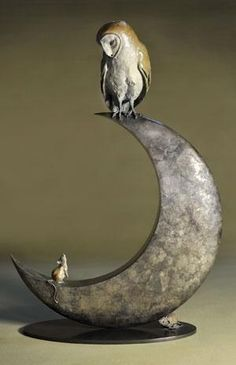 Theodore Gillick Moon Owl and Mouse