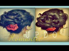 ★EASY ELEGANT HAIRSTYLES FOR MEDIUM LONG HAIR TUTORIAL | FANCY UPDO BUN WITH CURLS - WEDDING, PROM