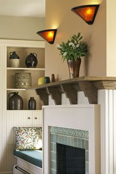 Arts And Crafts Mantel Design Ideas, Pictures, Remodel, and Decor - page 8 skip the extra mantel.