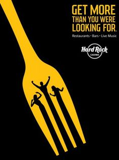 Graphic design ads creative graphic design ads for hard rock casino aterietateriet templates Restaurant Advertising, Restaurant Poster, Clever Advertising, Advertising Poster, Advertising Design, Advertising Agency, Poster Ads, Restaurant Branding, Font Design