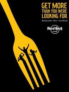 Creative Graphic Design ads for Hard Rock Casino
