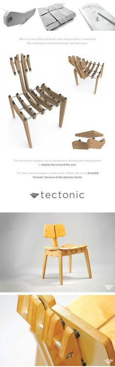 Ergonomic Plywood Chair by Eddie Licitra, via Behance