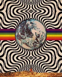 Psychedelic Art, Psychedelic Pattern, Trippy Drawings, Art Drawings, Trippy Painting, Trippy Wallpaper, Hippie Art, Pics Art, Surreal Art