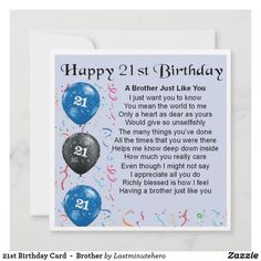 Shop Birthday Card - Brother created by Lastminutehero. Brother Poems, Brother Gifts, Birthday Gifts For Brother, 21st Birthday Cards, A Brother, You Mean The World To Me, Detail Shop, Custom Greeting Cards, Holiday Photos