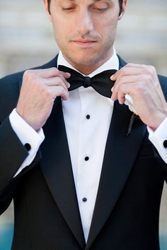 classic/traditional groom's tux