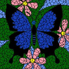 All in one Jade butterfly mosaic kit with everything you need to create a beautiful mosaic mandala tabletop or mural. Mosaic Kits, Mosaic Tile Designs, Mosaic Ideas, Tile Mosaics, Mosaic Art Projects, Mosaic Crafts, Blue Mosaic, Mosaic Glass, Rock Mosaic