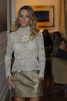 Peplum Dress, Lace Dress, Ruffle Blouse, Mode Crochet, Renaissance Dresses, Point Lace, Needle Lace, Irish Lace, Beautiful Blouses