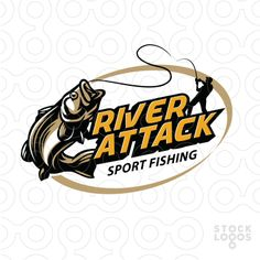 Sport fishing logo by makou , river fishing
