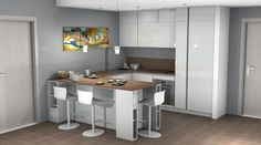 Scavolini: cucina con penisola by #Scavolini #kitchen #kitchens @Sermobil #design