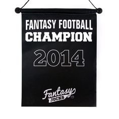 Showcase your fantasy dominance with our Fantasy Football Championship Banner. Choose between Years Silk Banner measures Tall x Wide Legacy Kit NOW AVAILABLE! Football Banner, Football Trophies, Fantasy Football Champion