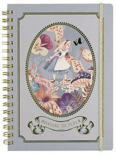 ピレアグラウカ リングノート B6 アリス 『不思議の国のアリス』の雑貨シリーズ アリス・イン・ワンダーランド   - SelectShop W