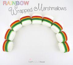 Smart School House: Rainbow Wrapped Marshmallows