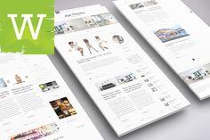 Clean WordPress Blog Theme by Wordica on Creative Market
